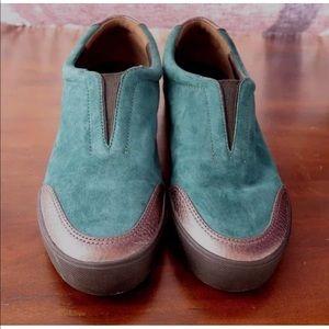 3.1 Phillip Lim Teal Silver Morgan Sneakers 39